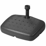 Doppler Balkon PE Füllsockel - Für Sonnenschirme bis ca. 180 cm - Mit Sand und Wasser befüllbar - 17 Liter/20 kg - Anthrazit - 1