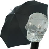 Doppler Manufaktur Herren Stockschirm Diplomat Oxford Skull schwarz - 1