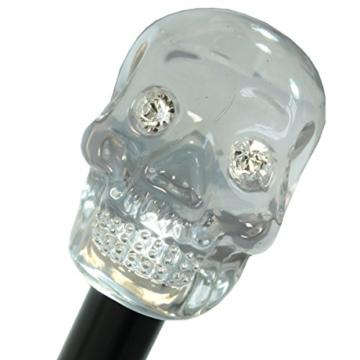 Doppler Manufaktur Herren Stockschirm Diplomat Oxford Skull schwarz - 5