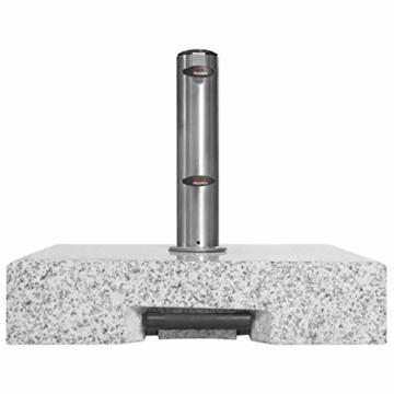 Doppler SL-AZ Granit Auszieh-Griff 72kg Sonnenschirmständer, grau - 2