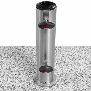 Doppler SL-AZ Granit Auszieh-Griff 72kg Sonnenschirmständer, grau - 6