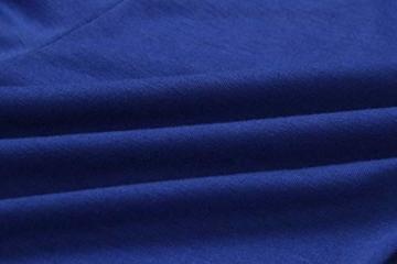ECOWISH Damen Jumpsuit Lang V Ausschnitt Overall Sommer Ärmellos Hosenanzug Träger Playsuit Romper Blau S - 2