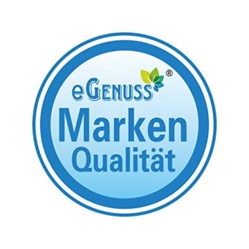eGenuss LY12041BLU Handgefertigtes Picknickkorb für 4 Personen - Inklusive Edelstahlbesteck, Kühlfach, Weingläser und Keramikteller – Blaues Gingham-Muster 47x34x20 cm - 3