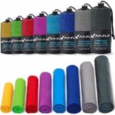 Fit-Flip Sporthandtuch, Reisehandtuch, Microfaser-Badetuch, XXL Strandhandtuch, Sauna Microfaser Handtuch groß (50x100cm grün) - 1