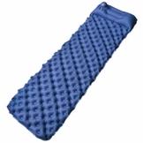 FOCHEA Isomatte Camping, Selbstaufblasbare Isomatte Handpresse Aufblasbare Luftmatratze Schlafmatte für Camping, Reise, Outdoor, Wandern, Strand (Blau) - 1