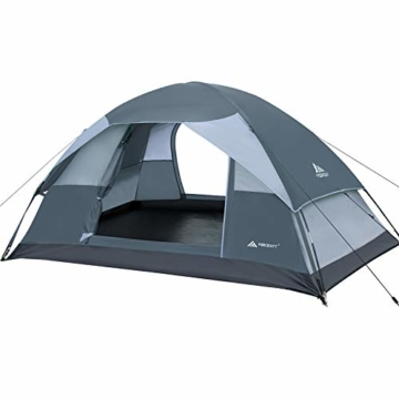 Forceatt Campingzelt für 2 Personen mit Doppeltüren, wasserdicht und Winddicht, Rucksack, belüftet und für Outdoor- und Wandertouren geeignet - 1