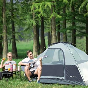 Forceatt Campingzelt für 2 Personen mit Doppeltüren, wasserdicht und Winddicht, Rucksack, belüftet und für Outdoor- und Wandertouren geeignet - 5