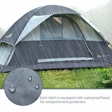 Forceatt Campingzelt für 2 Personen mit Doppeltüren, wasserdicht und Winddicht, Rucksack, belüftet und für Outdoor- und Wandertouren geeignet - 6