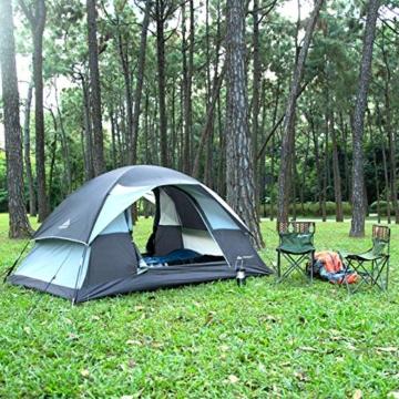 Forceatt Campingzelt für 2 Personen mit Doppeltüren, wasserdicht und Winddicht, Rucksack, belüftet und für Outdoor- und Wandertouren geeignet - 7