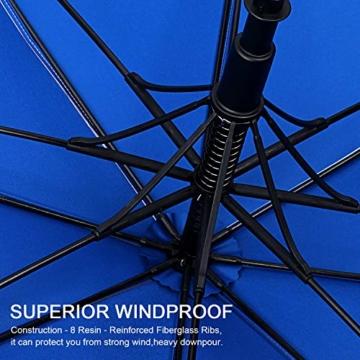 G4Free 62/68 Inch UV-Schutz Winddicht Sonnen- und Regenschirm Golfschirm Autorisches Öffnen Doppelbaldachin Belüftet Übergröße für Herren und Damen - 2