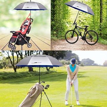 G4Free 62/68 Inch UV-Schutz Winddicht Sonnen- und Regenschirm Golfschirm Autorisches Öffnen Doppelbaldachin Belüftet Übergröße für Herren und Damen - 3