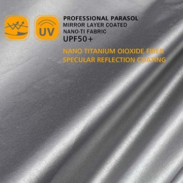 G4Free 62/68 Inch UV-Schutz Winddicht Sonnen- und Regenschirm Golfschirm Autorisches Öffnen Doppelbaldachin Belüftet Übergröße für Herren und Damen - 8