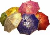 GANESHAM Indischer Hochzeits-Dekorativer Designer-Regenschirm, modisch, mehrfarbig, Strandschirm, UV-Schutz, Sonnenschirm, Stickerei, Outdoor, Boho-Sonnenschirm, handgefertigt (10 Stück) - 1