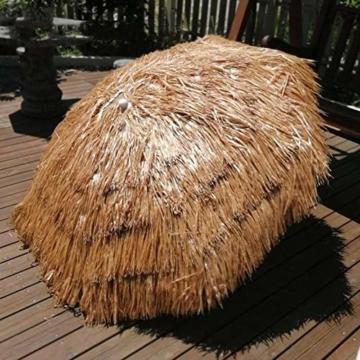 Gartenschirm Sonnenschirm Hawaii Sonnenschutz Ø 150 cm Höhenverstellbar Terrassenschirm Strandschirm strohschirm Pavillon Reise Deck Camping - 3