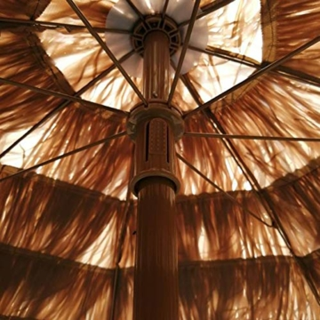 Gartenschirm Sonnenschirm Hawaii Sonnenschutz Ø 150 cm Höhenverstellbar Terrassenschirm Strandschirm strohschirm Pavillon Reise Deck Camping - 6