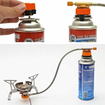 Gcroet Gas Adapter Gasadapter Sicher Durable Campingkocher Adapter Gas Conversion Kopfadapter Für Butan Kanister Schraube Gaskartusche Kolben Adapter - 2