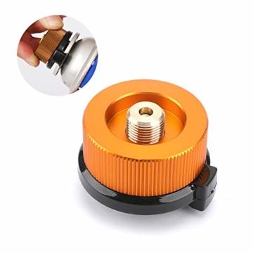 Gcroet Gas Adapter Gasadapter Sicher Durable Campingkocher Adapter Gas Conversion Kopfadapter Für Butan Kanister Schraube Gaskartusche Kolben Adapter - 3
