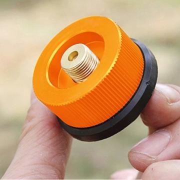 Gcroet Gas Adapter Gasadapter Sicher Durable Campingkocher Adapter Gas Conversion Kopfadapter Für Butan Kanister Schraube Gaskartusche Kolben Adapter - 4
