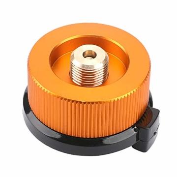 Gcroet Gas Adapter Gasadapter Sicher Durable Campingkocher Adapter Gas Conversion Kopfadapter Für Butan Kanister Schraube Gaskartusche Kolben Adapter - 1