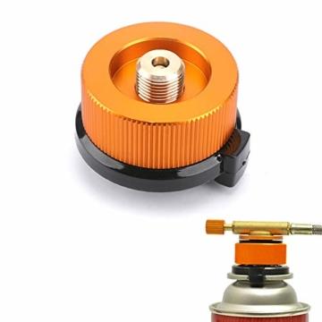 Gcroet Gas Adapter Gasadapter Sicher Durable Campingkocher Adapter Gas Conversion Kopfadapter Für Butan Kanister Schraube Gaskartusche Kolben Adapter - 9