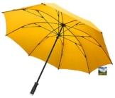"""GOLFSCHIRM-birdiepal """"windflex"""" Farbe gelb - der Schirm für extremes Wetter + Aufhängehaken - 1"""