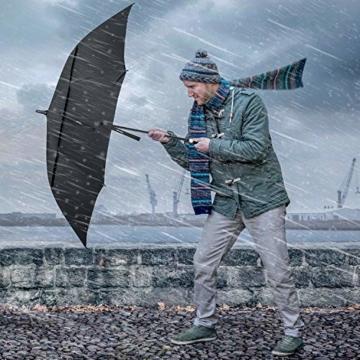 Gonex Sturmfest Golf Regenschirm 62 Zoll Groß XXL, UV-Schutz, Automatischer Offener Regenschirm mit Winddichtem, Wasserabweisendem Doppelverdeck, Eva-Griff,für 2-7 Männer, Schwarz - 5