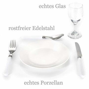 GOODS+GADGETS Weidenkorb Picknickkorb aus Weide mit Picknick Geschirr, Besteck, Gläsern, Korkenzieher (Picknickkorb - 2 Personen) - 2