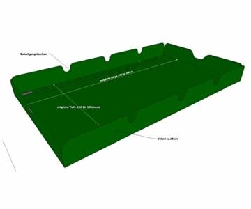 GRASEKAMP Qualität seit 1972 Ersatzdach Universal Hollywoodschaukel Grün Ersatz-Bezug Sonnendach Dachplane - 2