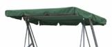 GRASEKAMP Qualität seit 1972 Ersatzdach Universal Hollywoodschaukel Grün Ersatz-Bezug Sonnendach Dachplane - 1