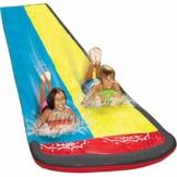 Groß Rasen Wasserrutschen Für Kinder Und Erwachsene, 480 cm Garten Spaß Wassersprühspielzeug Reißfester Wasserrutschmatte Im Freien - 1