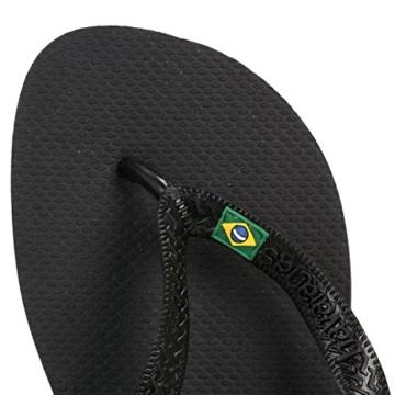 Havaianas Unisex-Erwachsene Brasil Zehentrenner, Schwarz (Black), 43/44 EU - 6