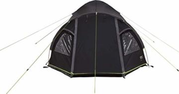 High Peak Kuppelzelt Talos 4, Campingzelt mit Vorbau, Iglu-Zelt für 4 Personen, doppelwandig, 4.000 mm wasserdicht, Vorbau mit Zeltboden, Ventilationssystem, Moskitoschutz, Klarsichtfolien-Fenster - 4