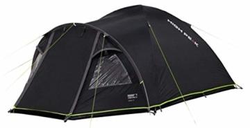 High Peak Kuppelzelt Talos 4, Campingzelt mit Vorbau, Iglu-Zelt für 4 Personen, doppelwandig, 4.000 mm wasserdicht, Vorbau mit Zeltboden, Ventilationssystem, Moskitoschutz, Klarsichtfolien-Fenster - 5