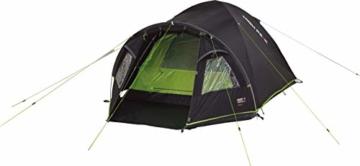 High Peak Kuppelzelt Talos 4, Campingzelt mit Vorbau, Iglu-Zelt für 4 Personen, doppelwandig, 4.000 mm wasserdicht, Vorbau mit Zeltboden, Ventilationssystem, Moskitoschutz, Klarsichtfolien-Fenster - 6