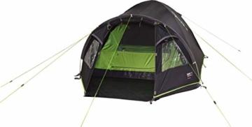High Peak Kuppelzelt Talos 4, Campingzelt mit Vorbau, Iglu-Zelt für 4 Personen, doppelwandig, 4.000 mm wasserdicht, Vorbau mit Zeltboden, Ventilationssystem, Moskitoschutz, Klarsichtfolien-Fenster - 8