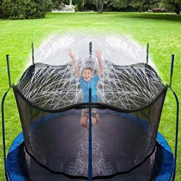 Hydrogarden Trampolin Sprinkler Trampolin Spray Wasserpark Spaß Sommer Outdoor Wasserspiel Trampolin Zubehör, zum Anbringen am Trampolin Sicherheitsnetz Gehäuse (12m) - 1