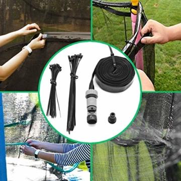 Hydrogarden Trampolin Sprinkler Trampolin Spray Wasserpark Spaß Sommer Outdoor Wasserspiel Trampolin Zubehör, zum Anbringen am Trampolin Sicherheitsnetz Gehäuse (12m) - 5