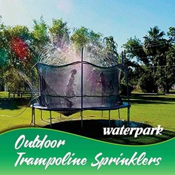 Hydrogarden Trampolin Sprinkler Trampolin Spray Wasserpark Spaß Sommer Outdoor Wasserspiel Trampolin Zubehör, zum Anbringen am Trampolin Sicherheitsnetz Gehäuse (12m) - 7