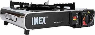 i-mex IMEX Camping GASKOCHER Set KOCHER IM TRAGEKOFFER MIT GASKARTUSCHEN Menge FREI WÄHLBAR (Gaskocher mit 8 x Gaskartuschen) - 5