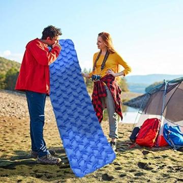 IREGRO Isomatte Camping, Ultraleicht Aufblasbare Isomatte Schlafmatte, Luftmatratze Camping, Outdoor Isomatte, Wasserdicht, Kleines Packmaß, für Wandern, Backpacking, Camping, Strand - 5