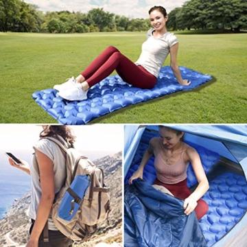 IREGRO Isomatte Camping, Ultraleicht Aufblasbare Isomatte Schlafmatte, Luftmatratze Camping, Outdoor Isomatte, Wasserdicht, Kleines Packmaß, für Wandern, Backpacking, Camping, Strand - 6