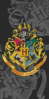 Jerry Fabrics Harry Potter Hogwarts Wappen Duschtuch Strandtuch Badetuch 70 x 140 cm - 1