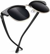 Joopin Retro Halbrahmen Sonnenbrille Herren/Damen Klassische Polarisierte Sonnenbrille mit UV400 Schutz - 1