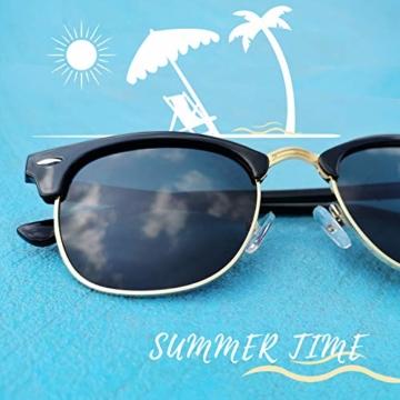 Joopin Retro Halbrahmen Sonnenbrille Herren/Damen Klassische Polarisierte Sonnenbrille mit UV400 Schutz - 3