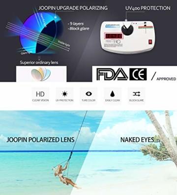 Joopin Retro Halbrahmen Sonnenbrille Herren/Damen Klassische Polarisierte Sonnenbrille mit UV400 Schutz - 4