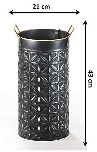 Kobolo Schirmständer Regenschirmständer Stroke - Metall - schwarz - H 43 cm - 3
