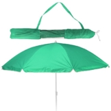 Koopman Balkonschirm - Strandschirm - Sonnenschirm - LSF 30+ - 156cm mit Farbauswahl (grün) - 1