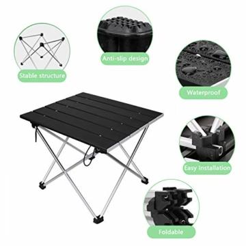 Linkax Tragbar Klapptisch Aluminium Campingtisch mit Tragetasche, Maximale Belastung 30 kg für Camping Picknick, Strand, Garten Grill - 2
