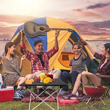 Linkax Tragbar Klapptisch Aluminium Campingtisch mit Tragetasche, Maximale Belastung 30 kg für Camping Picknick, Strand, Garten Grill - 3