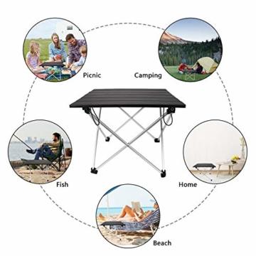 Linkax Tragbar Klapptisch Aluminium Campingtisch mit Tragetasche, Maximale Belastung 30 kg für Camping Picknick, Strand, Garten Grill - 6
